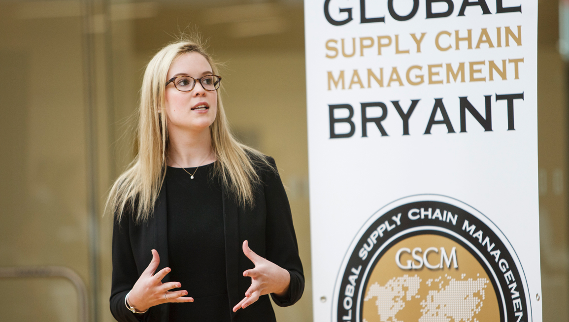 Global Supply Chain Management student presents practicum project
