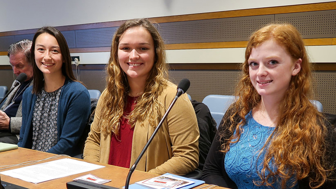 Bryant students at UN session. Photo ©Prof. Alex Perullo 2018