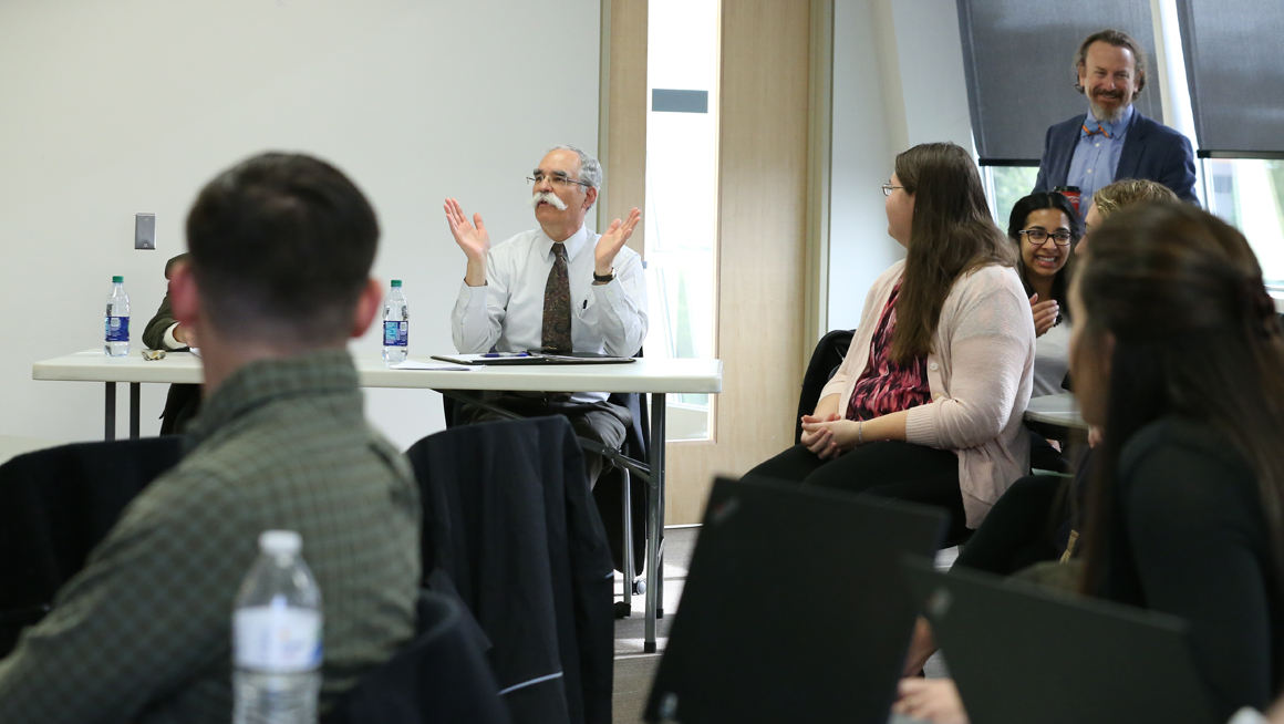 International Business Practicum students get feedback from CEO