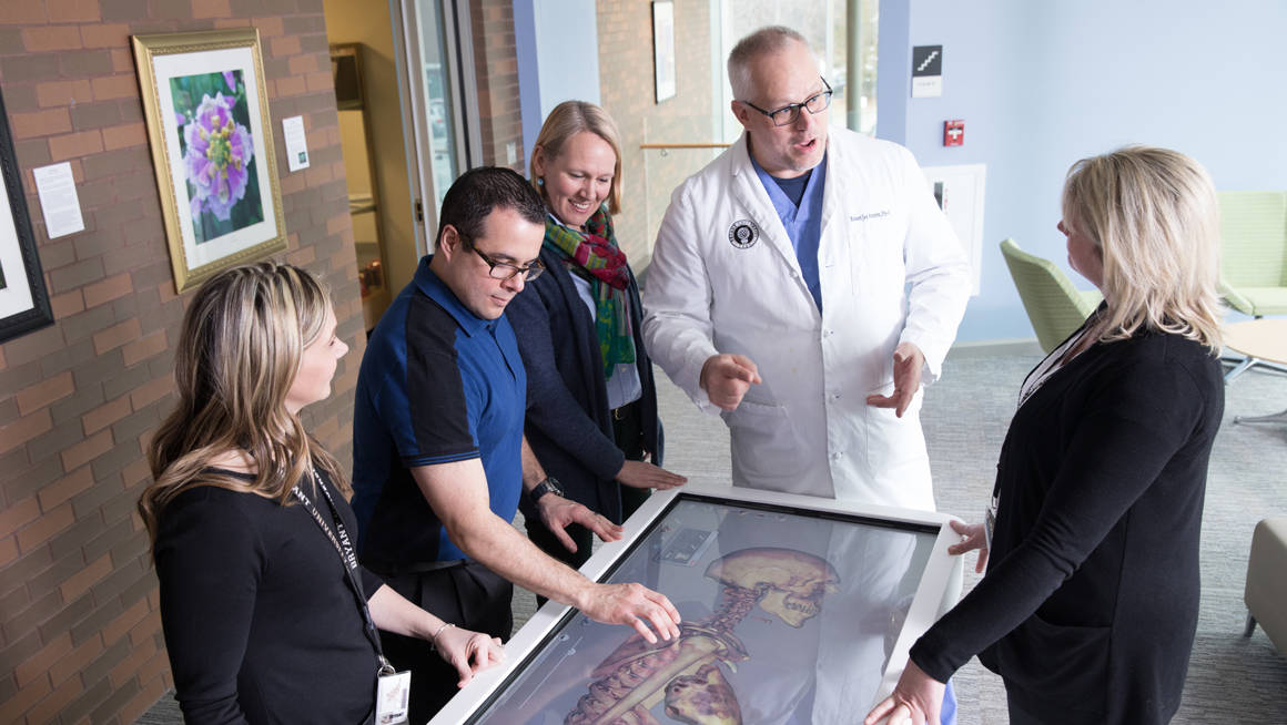 Anatomage Table used at Bryant PA program