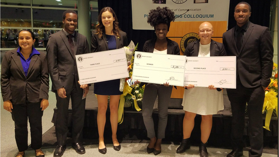 Winners of 2018 Public Speaking Colloquium