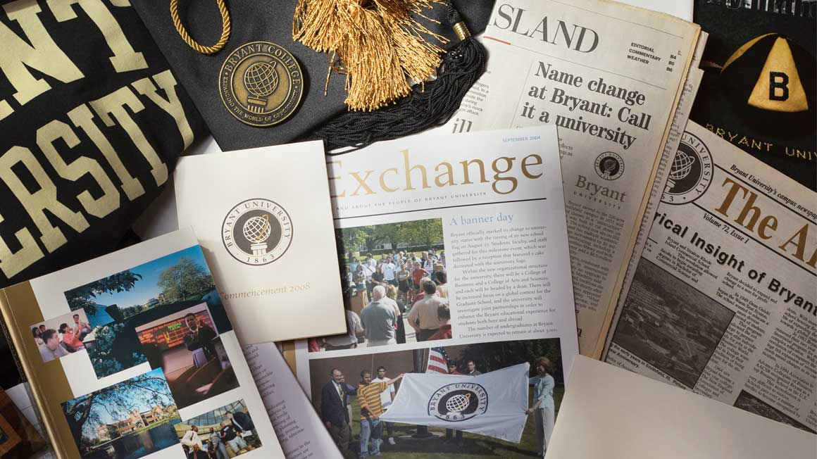 Collage of Bryant memorabilia and publications from 2008