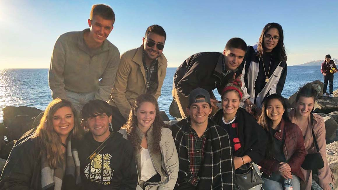 Eleven students traveled to Chile this year through Bryant's International Business program.