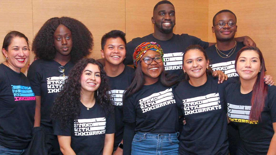 Bryant students who spoke at diversity event