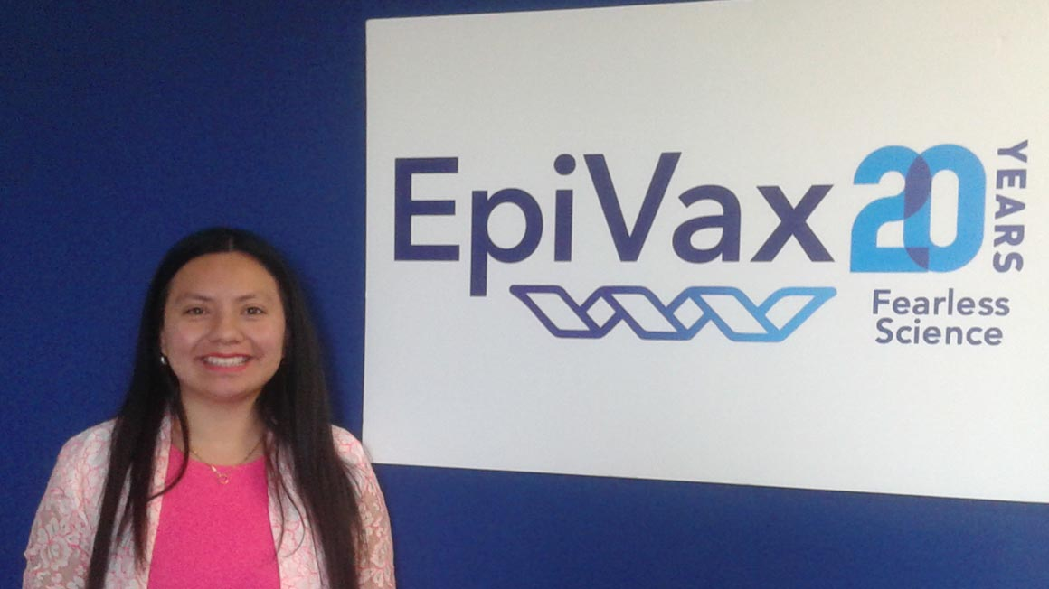 Kathleen Gonzalez '18, now works at EpiVax