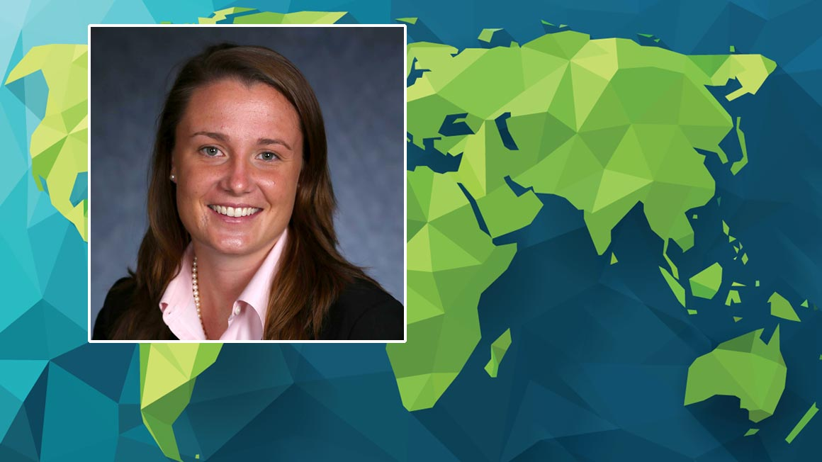 Bryant University's Senior Assistant Director of Admission, Meaghan Delaney '11,'18 MBA