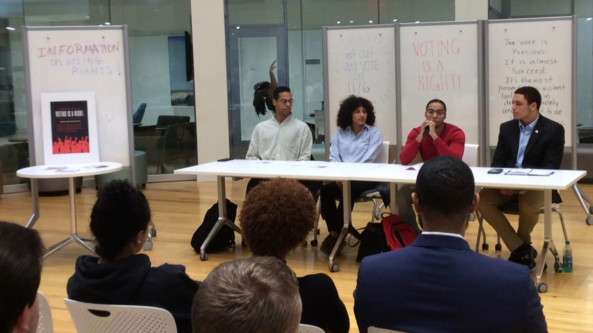 Student panelists discuss voting rights