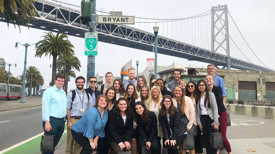 Bryant Honors Program students in San Francisco