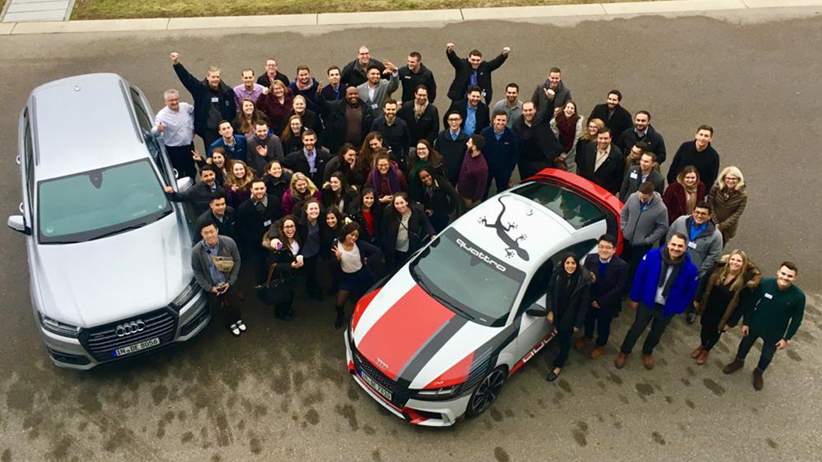 Bryant MBA students at Audi factory in Germany