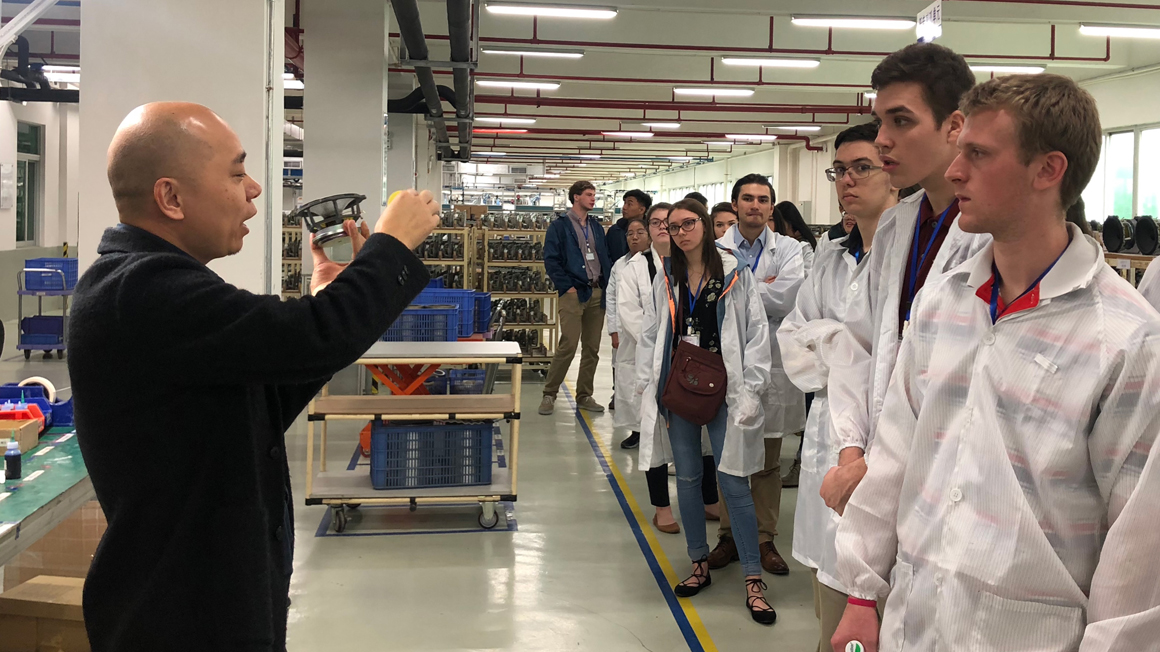 Bryant students tour Lenovo in China