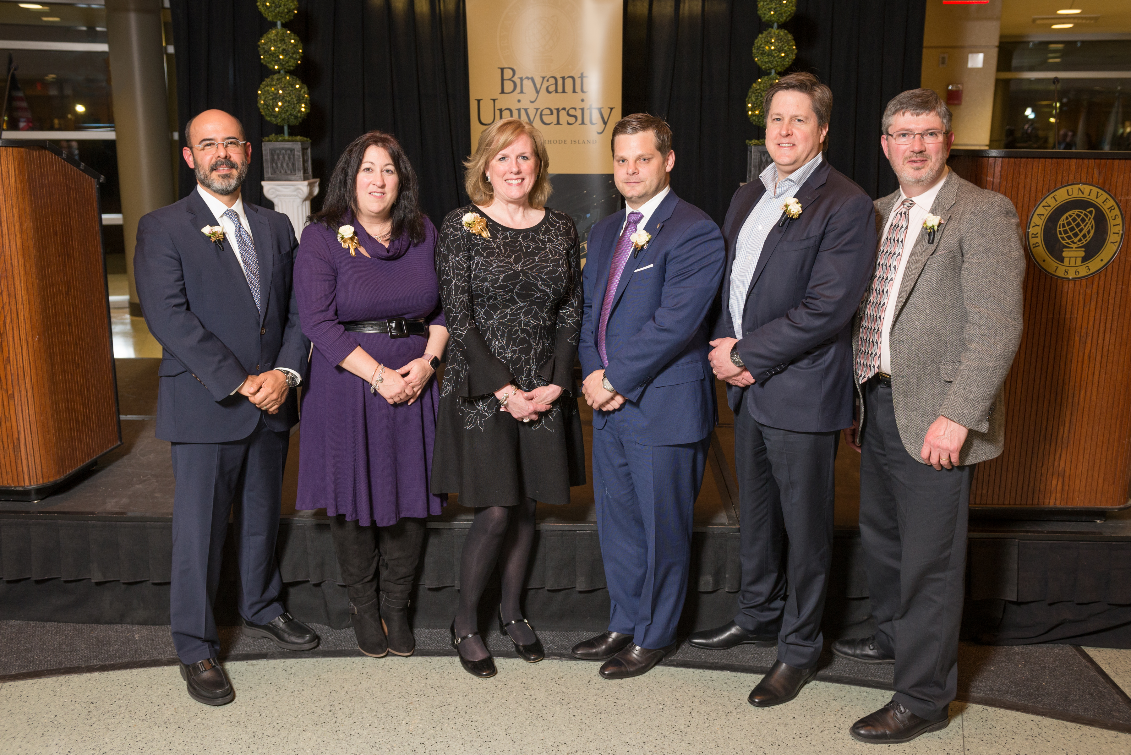 2019 Bryant University Alumni Achievement Award recipients