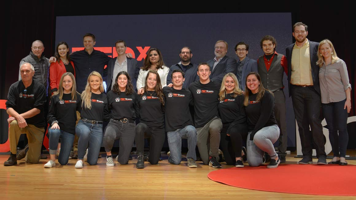 TEDxBryantU 2019 speakers and staff