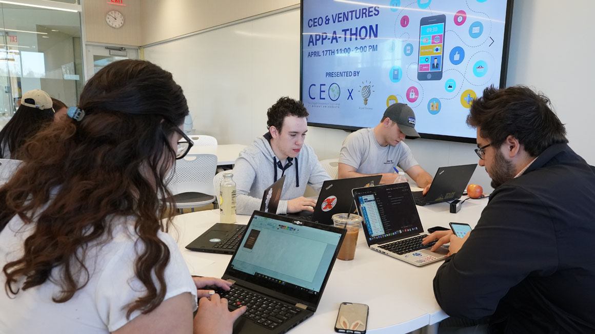 Students competing in Bryant's annual App-a-Thon