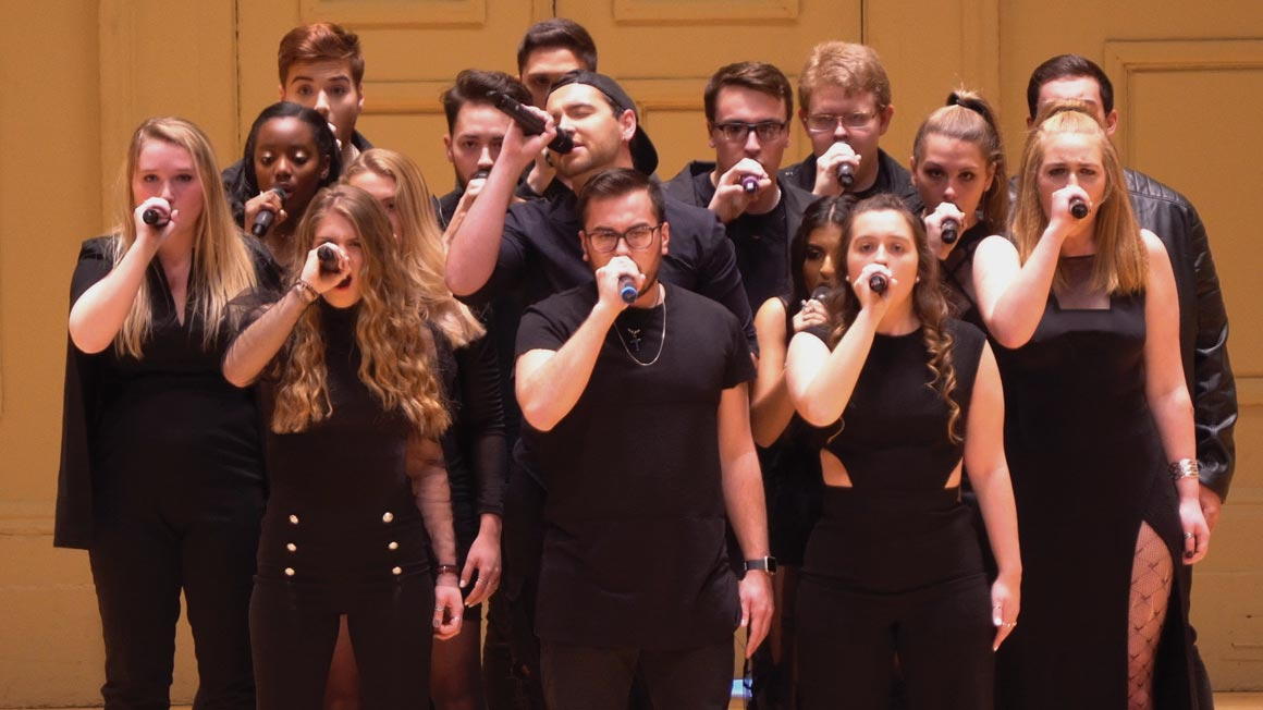 Bryant's a cappella group, the Bottom Line