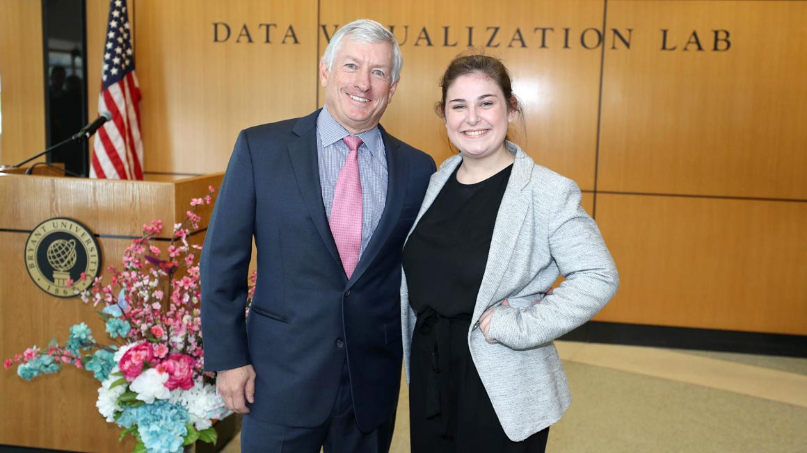 Todd Gustafson '86, President, HP Federal LLC, Vice President, HP US Public Sector and Hannah Bloomwald '20