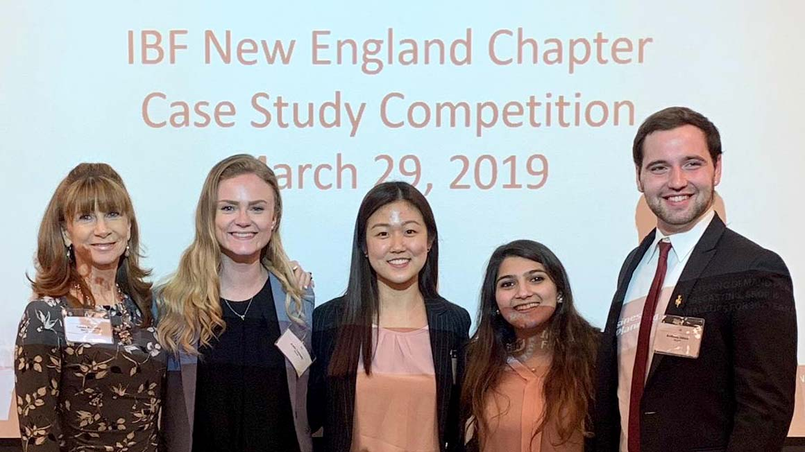 2019 IBF Case Competition - Bryant team poses for a photo