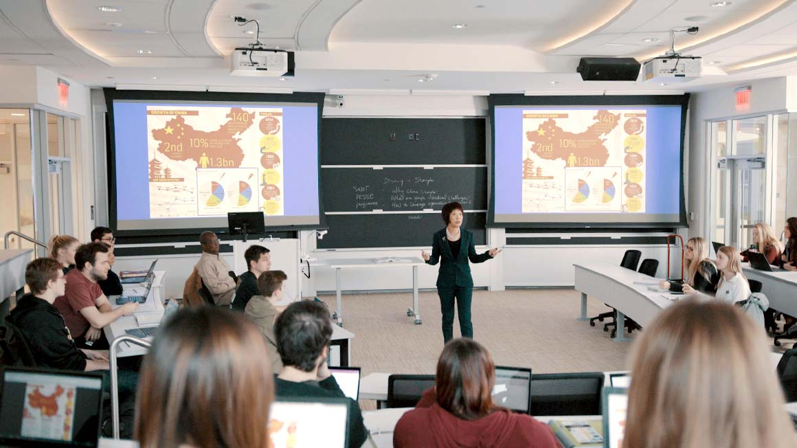 Crystal Jiang teaching in the Academic Innovation Center