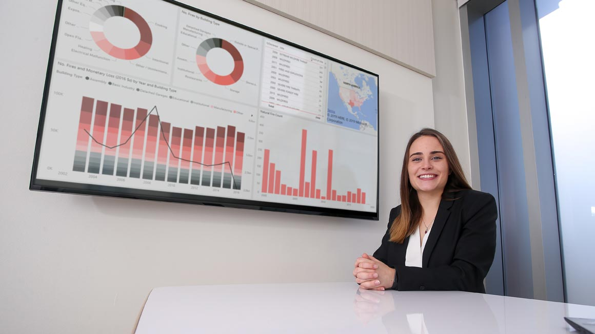 Data Science student Breanna Tulig '20