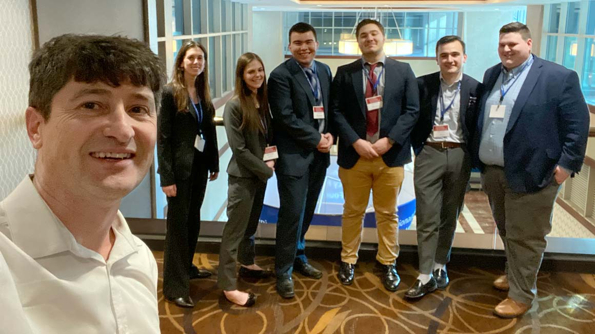 Students at the Eastern Economics Association conference