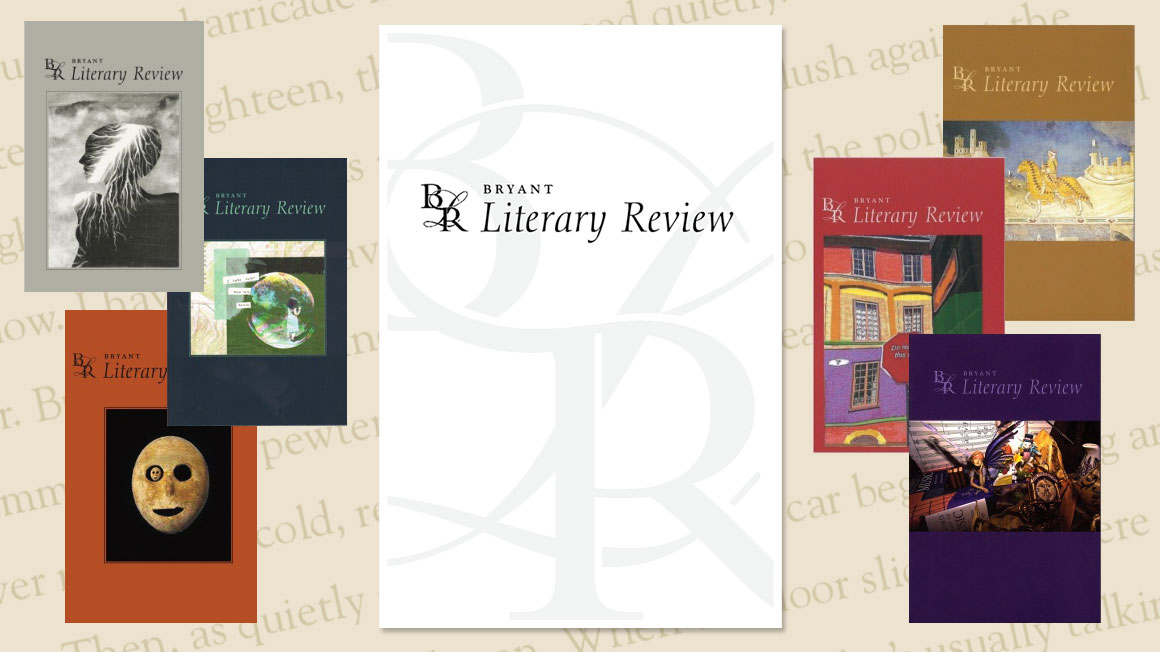 A collage of covers from the Bryant Literary Review volumes