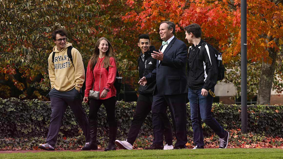 Provost Glenn Sulmasy on campus