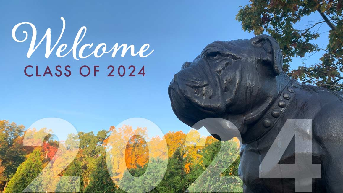 Banner welcoming the Class of 2024